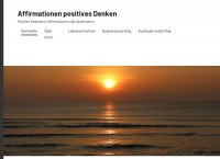 Affirmationen positives Denken